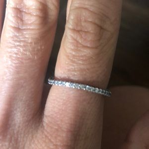 Pandora Curved Channel set stackable ring